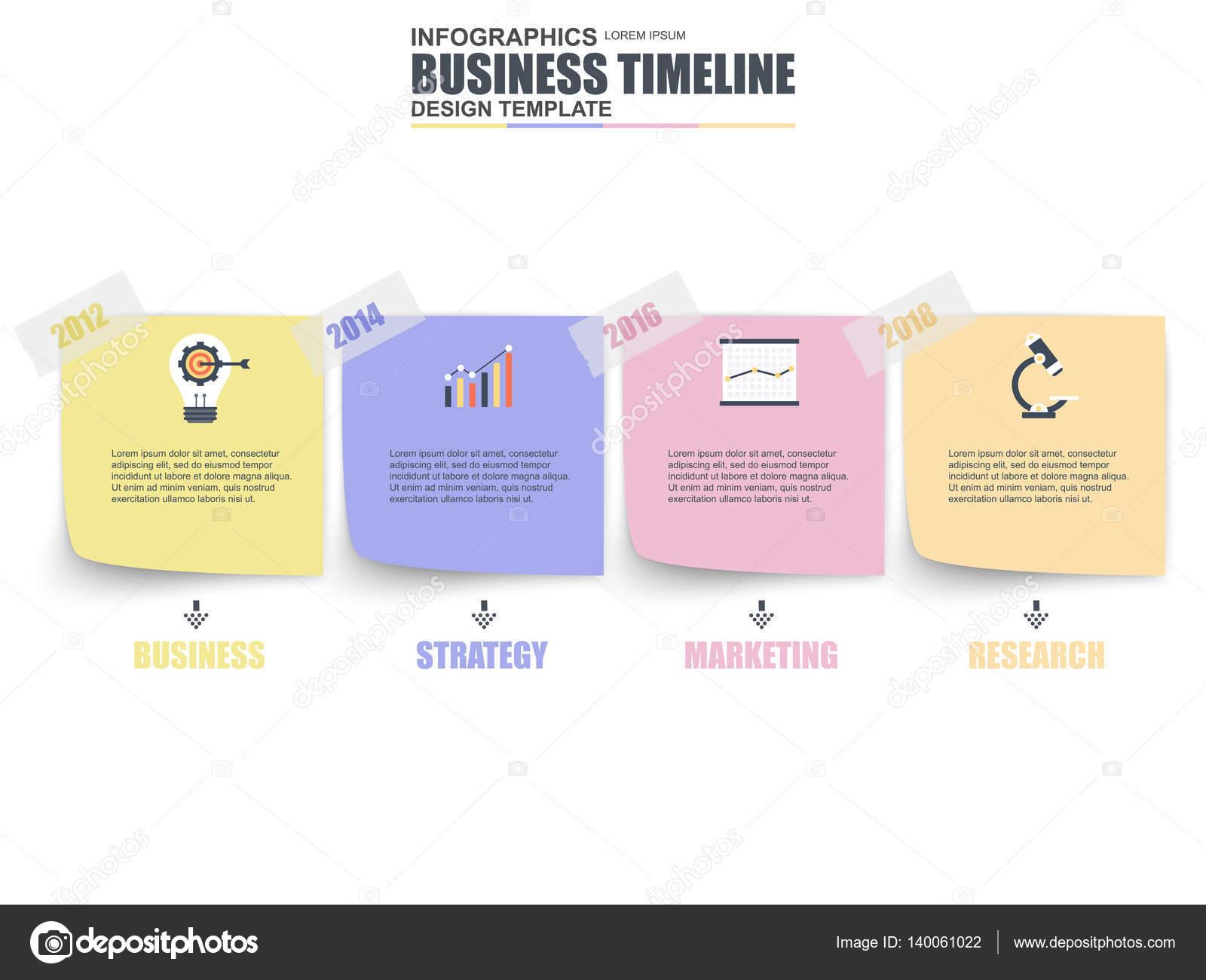 ビジネス タイムライン データの可視化 ストックベクター alexdndz