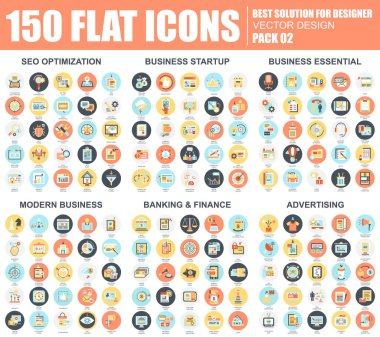 set of business and seo icons