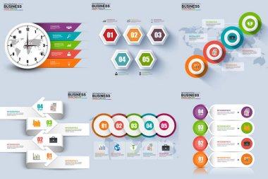 Infographic elements data visualization