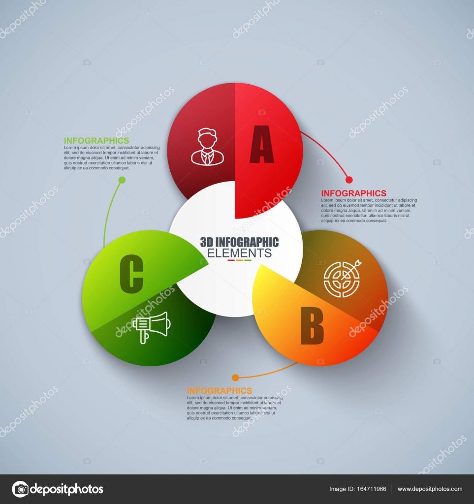 Presentation business 3d infographics