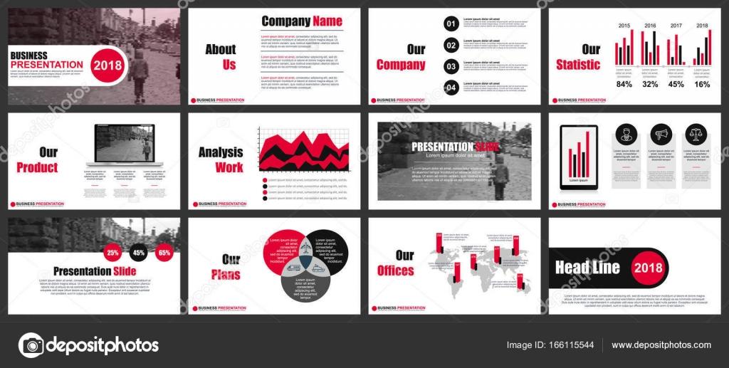 Presentación del negocio diapositivas plantillas — Archivo Imágenes ...
