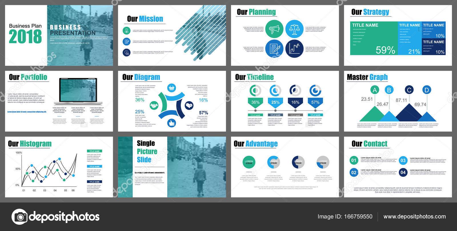 Presentación del negocio diapositivas plantillas — Vector de stock ...
