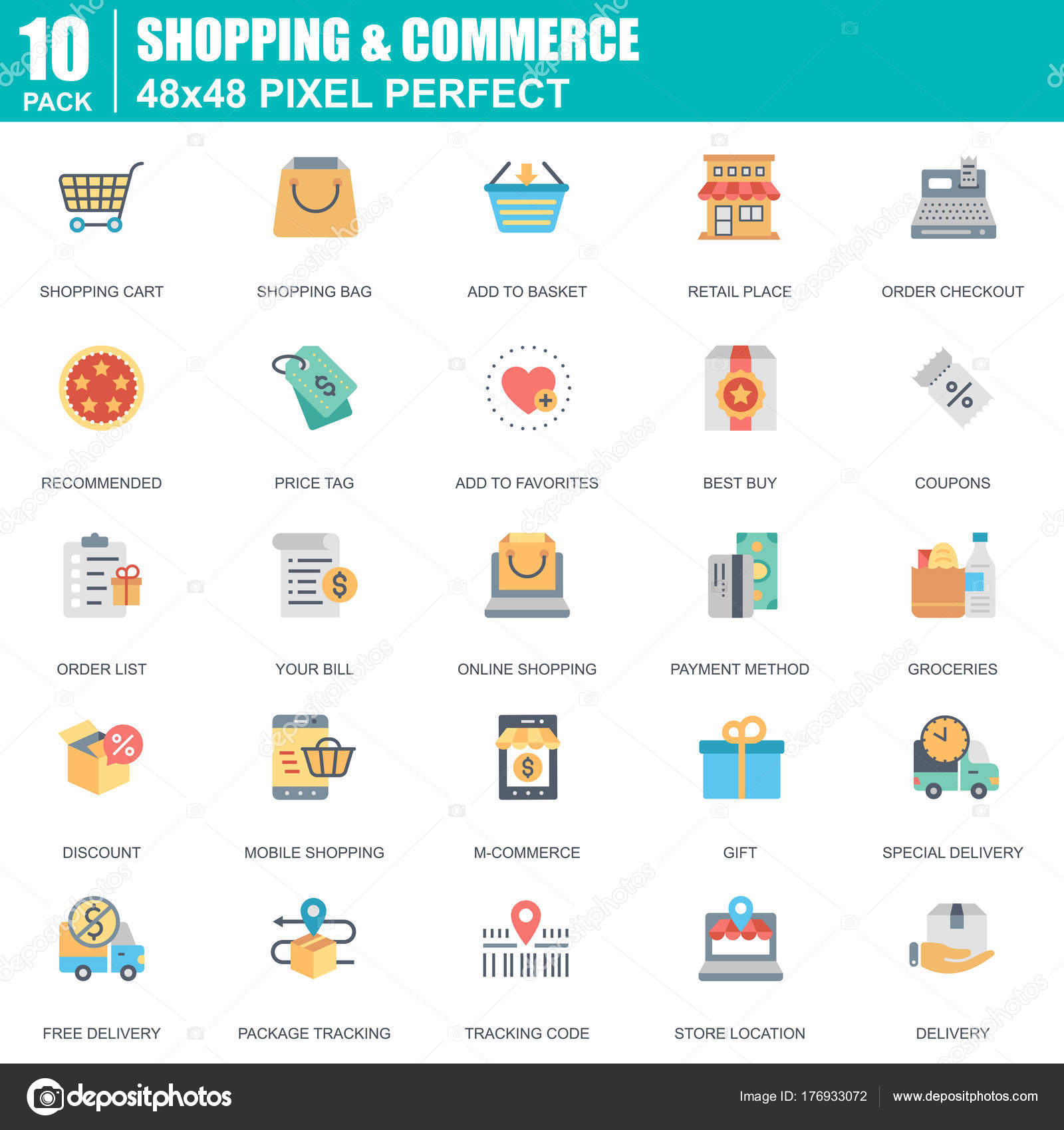 Flat online shopping commerce icons set website mobile site apps flat online shopping commerce icons set website mobile site apps stock vector altavistaventures Images