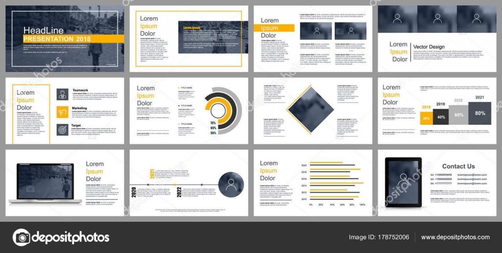 Presentación Del Negocio Color Amarillo Negro Las Diapositivas ...