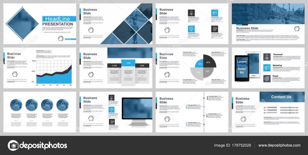 Presentación Del Negocio Azul Negro Diapositivas Plantillas ...