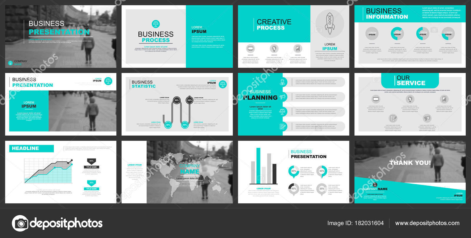 Business presentation slides templates infographic elements can used business presentation slides templates from infographic elements can be used for presentation flyer and leaflet brochure corporate report marketing wajeb Gallery