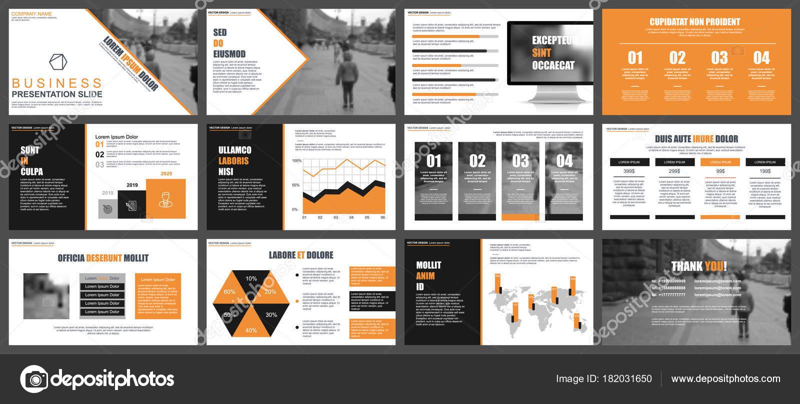Presentación Del Negocio Naranja Negro Diapositivas Plantillas ...