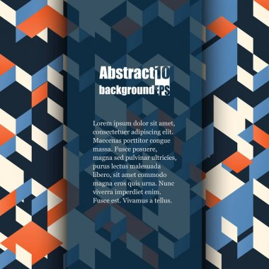 Brochure template with abstract background. Eps10 Vector illustration