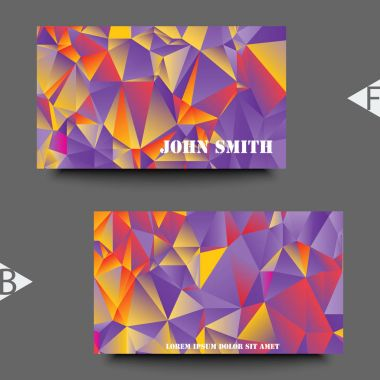 Graphic illustration. Abstract background with geometric pattern. Business card template with abstract background. Eps10 Vector illustration