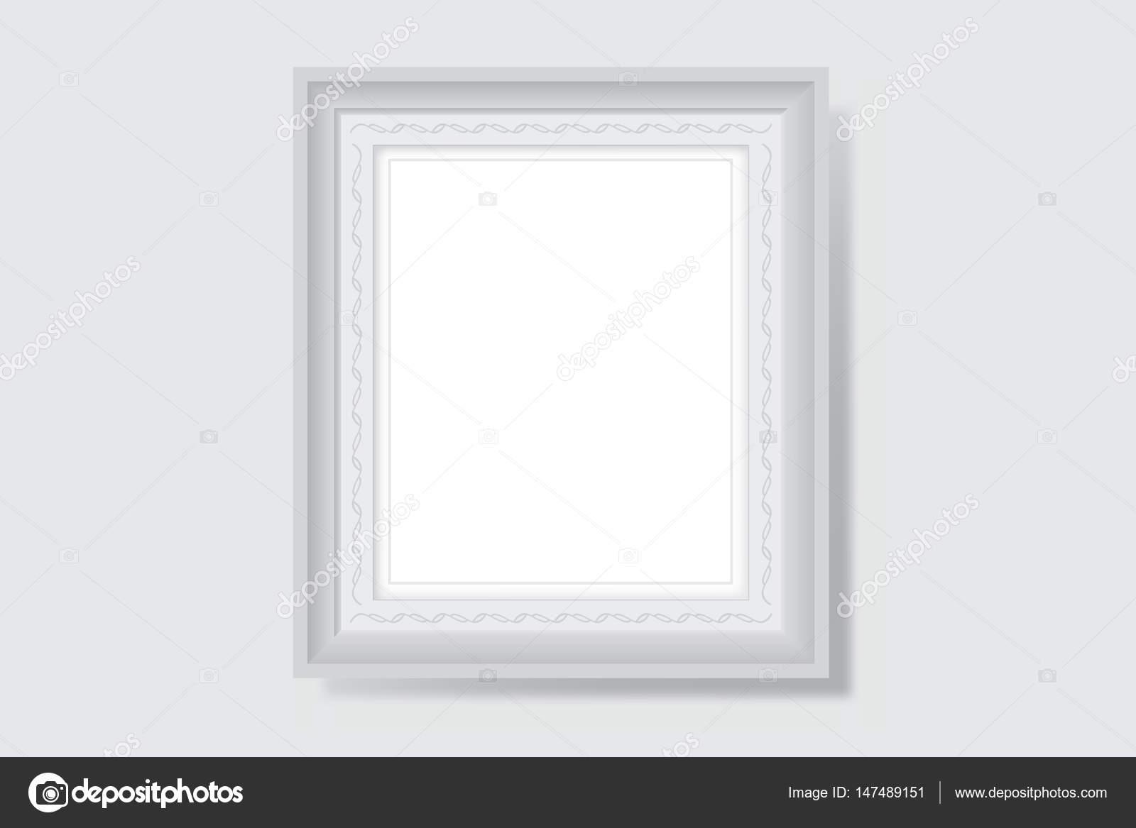 Ilustración de Vector de marco cuadro en blanco blanco — Vector de ...