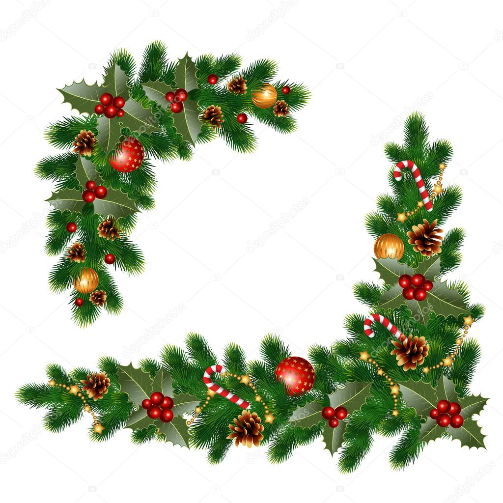 Ozdoby świąteczne Jodła Grafika Wektorowa Vasimila