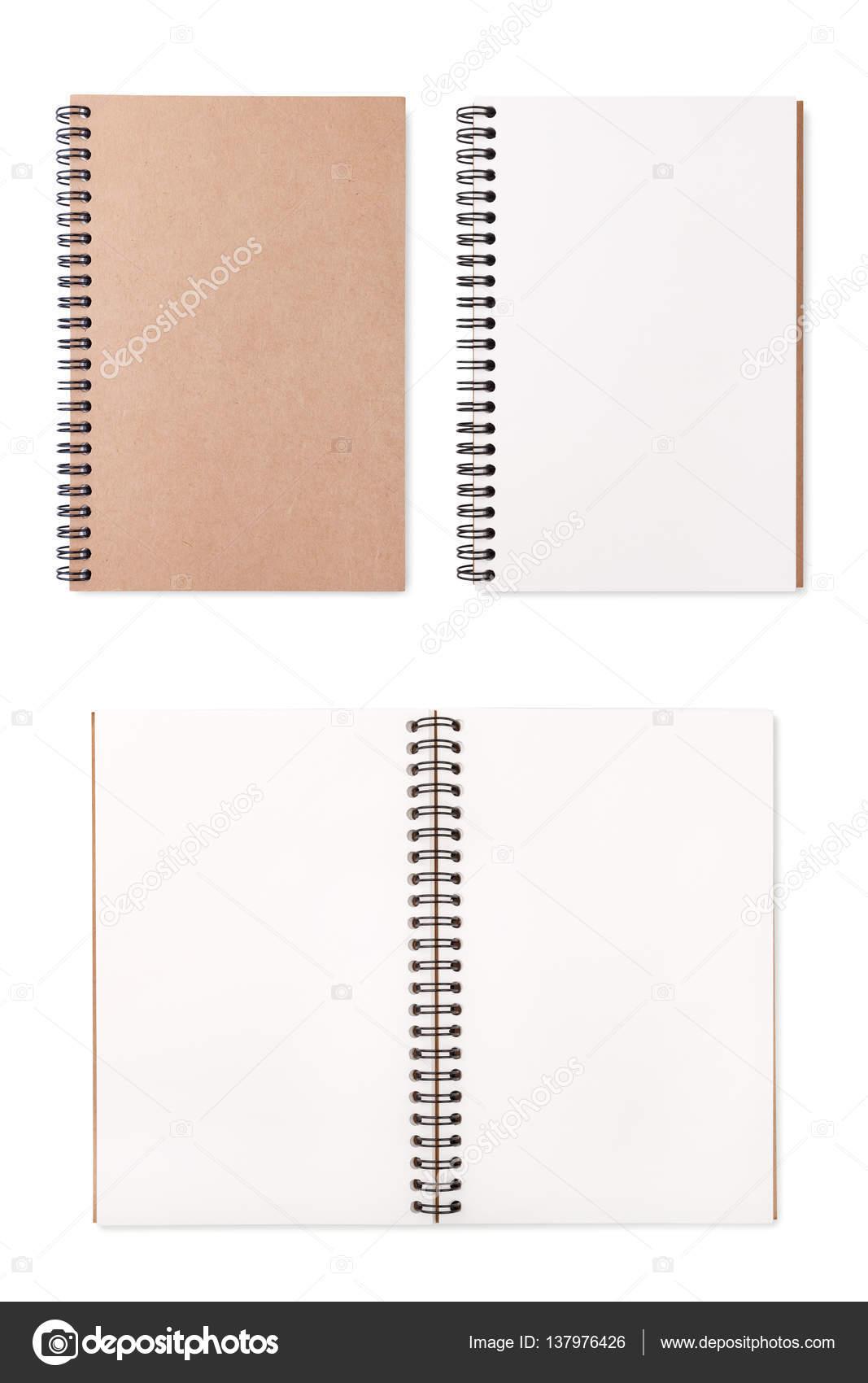 0a266d70408 Leer leer Notizblock auf weißem Hintergrund — Stockfoto © sripfoto ...