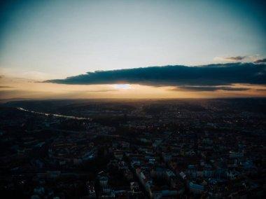 aerial timelapse of Prague during autumn