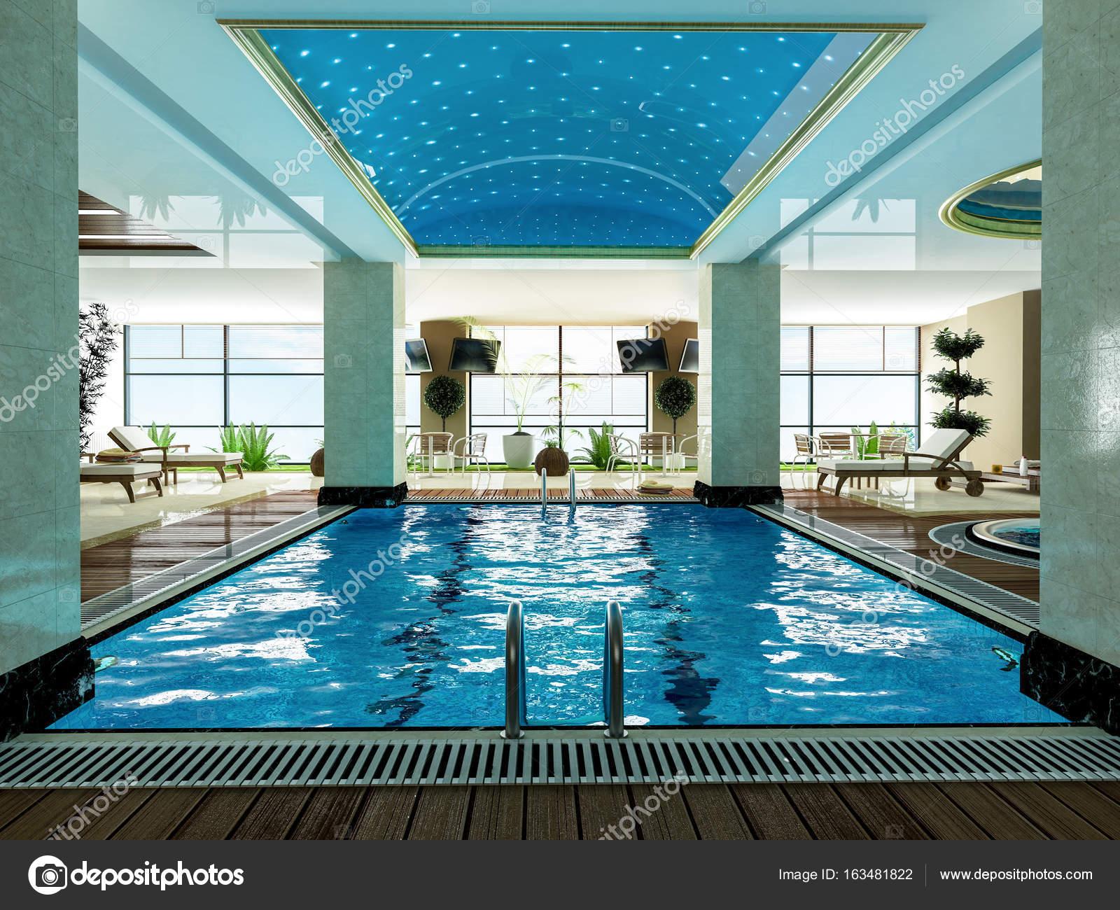 Indoor Swimming Pool Design Idea Stock Photo C Sseven 163481822 - Indoor-swimming-pool-design-ideas
