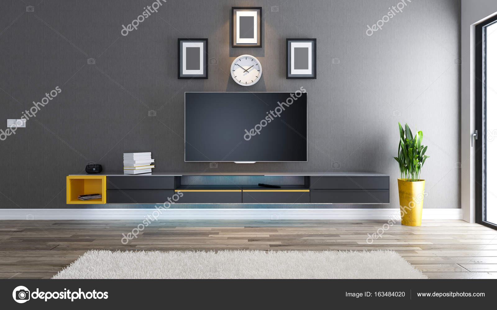TV kamer interieur design idee — Stockfoto © sseven #163484020