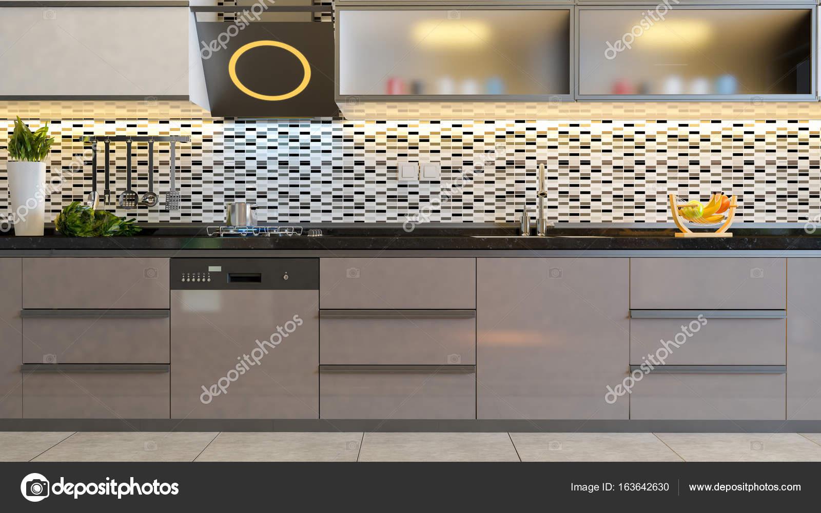 Cappuccino Farbe Braun Kuche Design Idee Stockfoto C Sseven 163642630