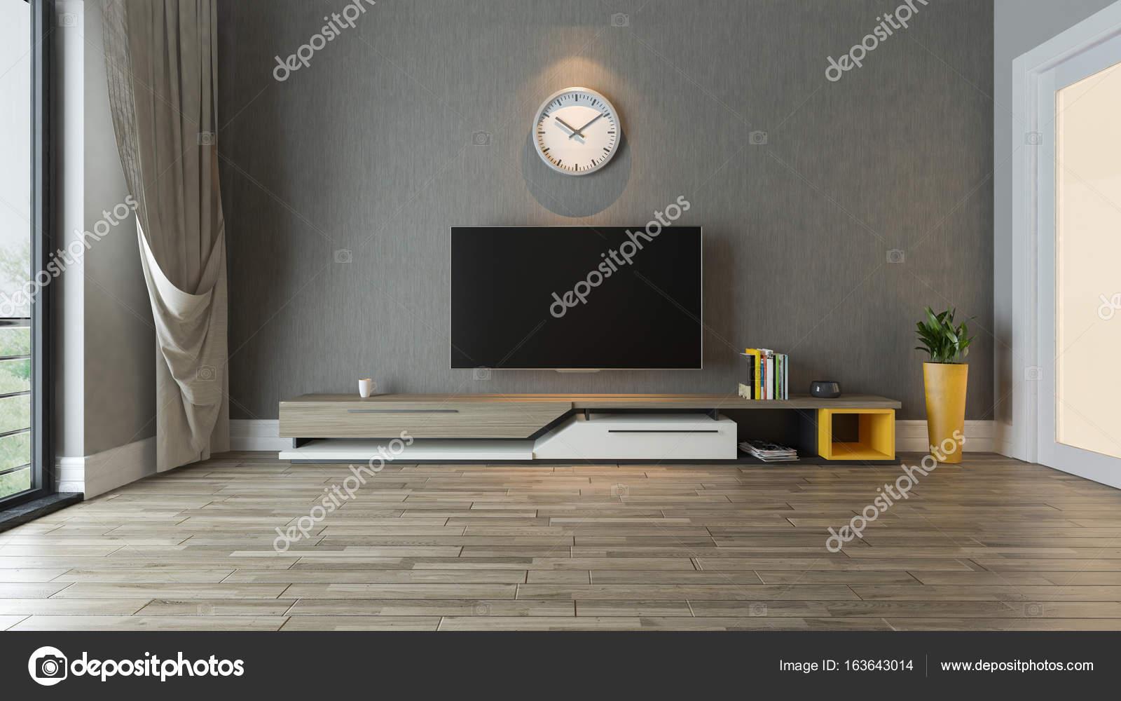 TV-Ständer in die Wohnzimmer Dekor-Idee — Stockfoto © sseven #163643014