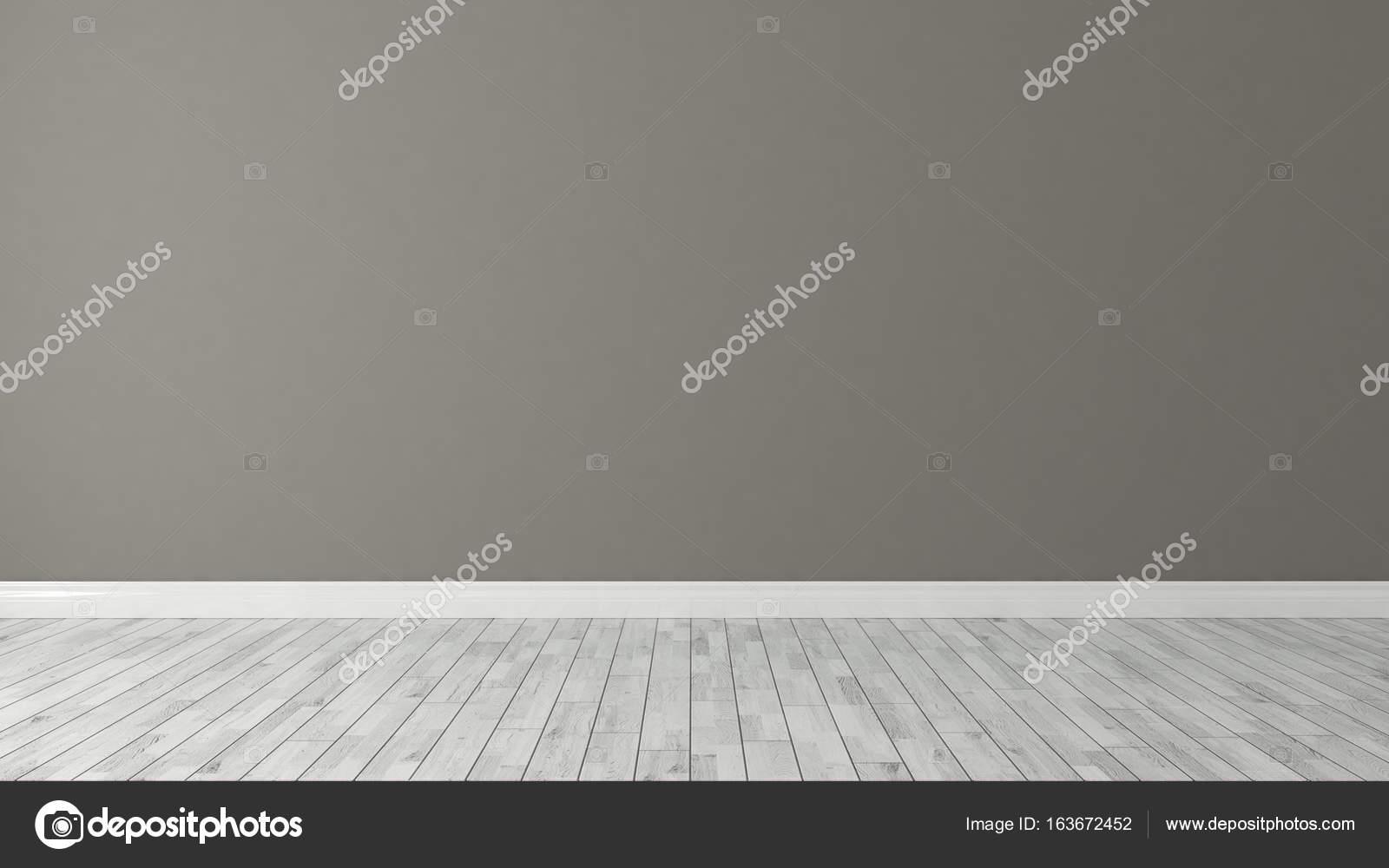 Braun Wand Hintergrund Mit Weißen Parkett Im Zimmer Dekoration Idee 3d  Rendering U2014 Foto Von Sseven