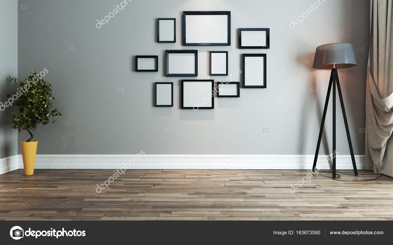 Wohnzimmer Interior Design-Idee mit Fotorahmen — Stockfoto © sseven ...