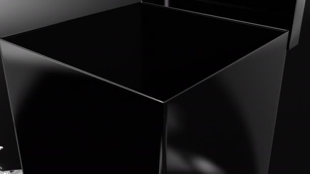 Elegáns fekete ajándékdoboz szalagnyitóval. Fekete ajándékdoboz szalagnyitóval. Magában foglalja az alfa és multimatte csatornákat, vágánypontokat.