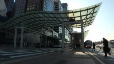 Modern bus station in Yeouido