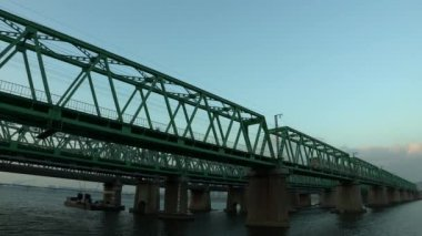Hangang Railroad Bridge over river
