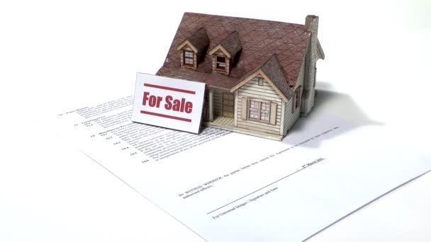 Konzept des Hausverkaufs, Wirtschaft und Business-Konzept