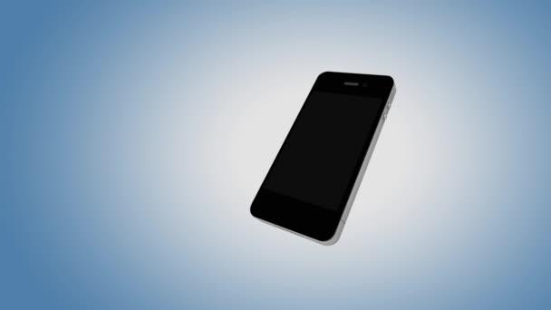 érmék a smartphone képernyő és zenei jegyzetek jelennek meg, a másik oldalán, az e-üzleti koncepció