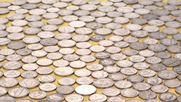 zásobníku mincí na peníze pozadí, koncept ekonomiky
