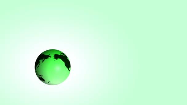 Eco prostředí koncepce s rotující země s rostoucí stromy na zeleném pozadí