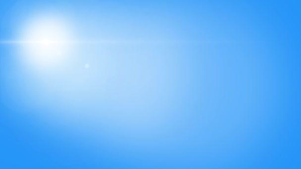transparente Sechsecke fliegen auf blauem Hintergrund