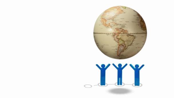 Globální obchodní koncept pozadí s lidmi postupných zeměkoule