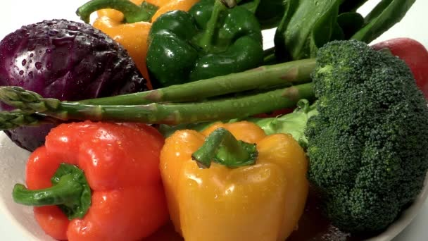 vegetables on white plate