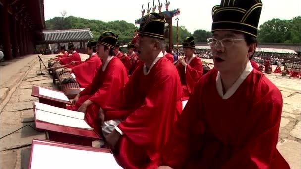 Játszik a hagyományos koreai hangszerek, Royal ősi rituálé a Jongmyo koreaiak