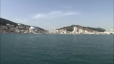 Seascape of Geoje-si at sunny day