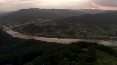 Seomjingang River with bridge