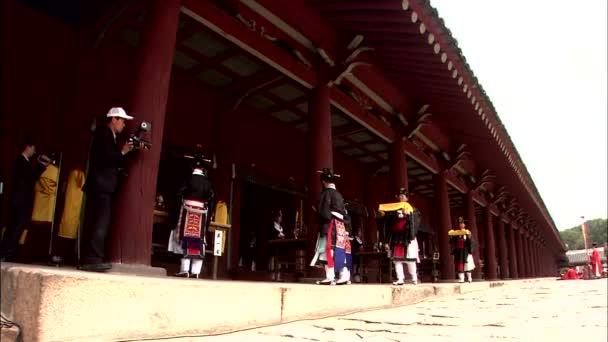 Koreai hagyományos szertartás, a királyi ősi rituálé, Jongmyo, Korea