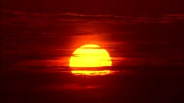 Amazing orange sunset