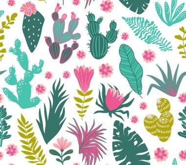 Tropical plants pattern