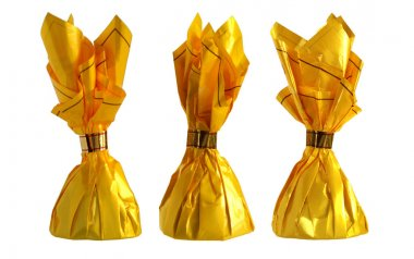Yellow candy wrapper