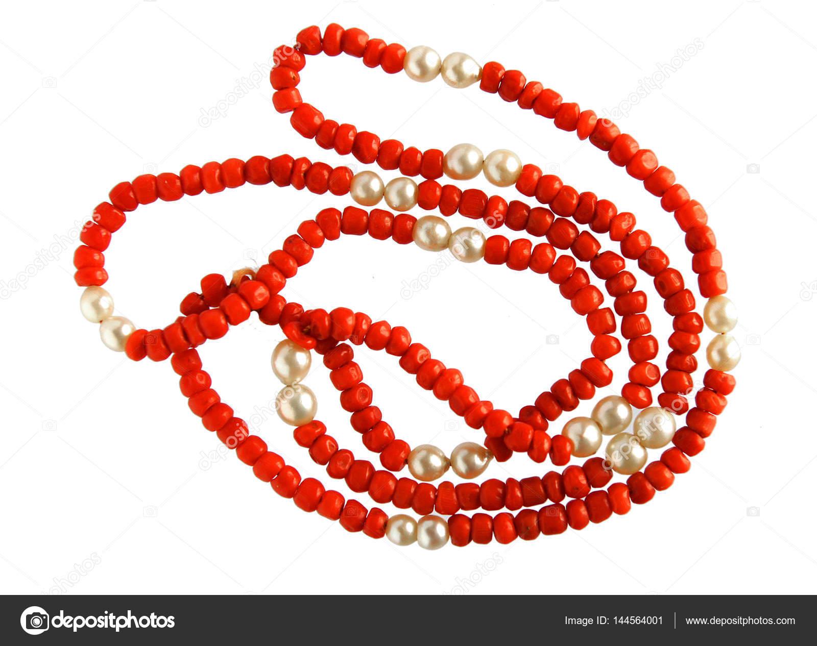 colar de coral vintage stock photo v nikitenko 144564001
