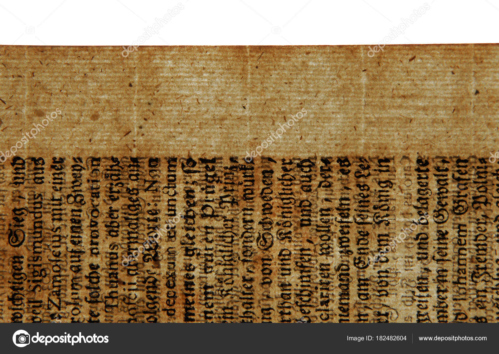 An Ancient Sheet Of 17th Century Paper With Gothic Letters Illustrates The Old Making Technology Photo By V Nikitenko