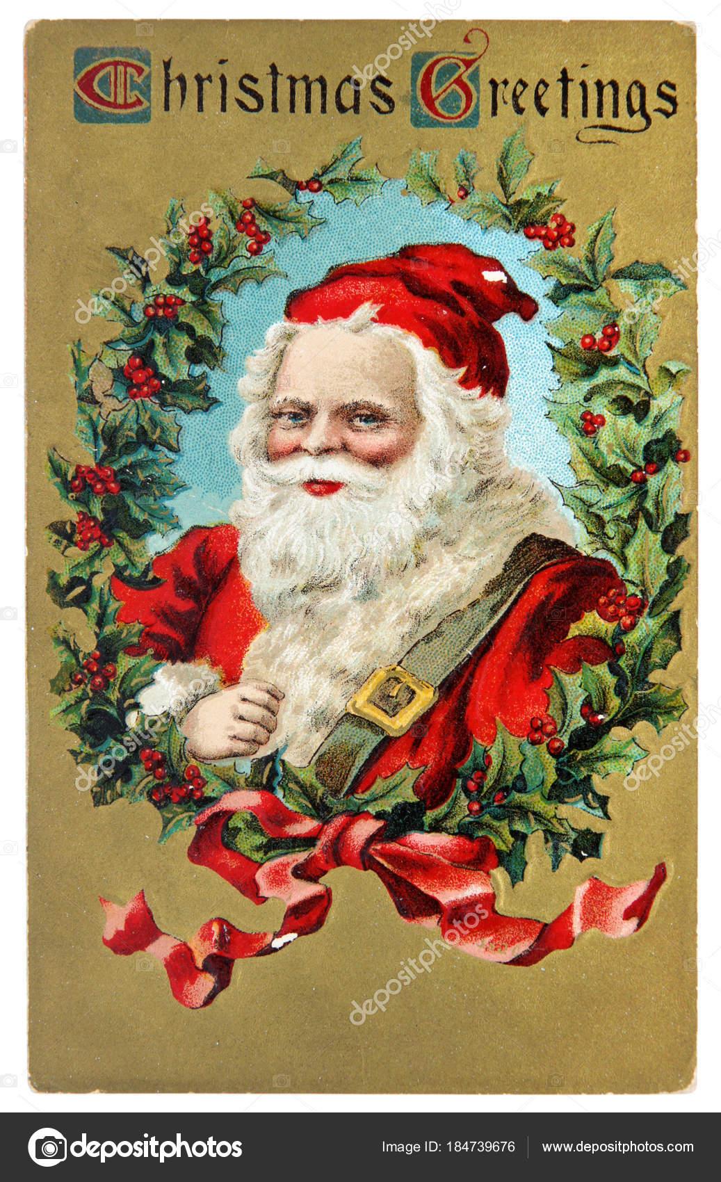 Vintage postcard with christmas greetings stock editorial photo vintage postcard with christmas greetings stock photo m4hsunfo