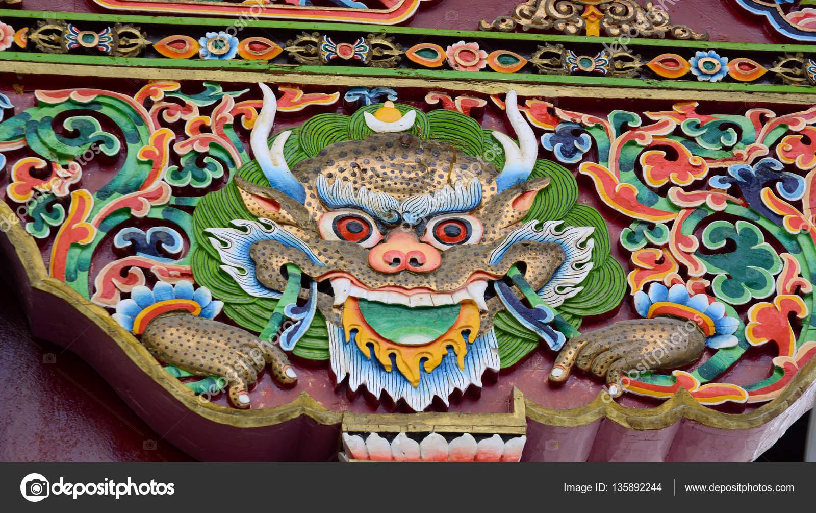 Decoration Arts Thiksey Monastery Leh Ladakh Jammu Kashmir India ⬇ Stock  Photo, Image by © phuongphoto #135892244