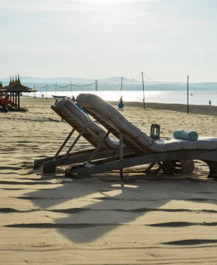 Relaxing chairs at the seaside luxury resort