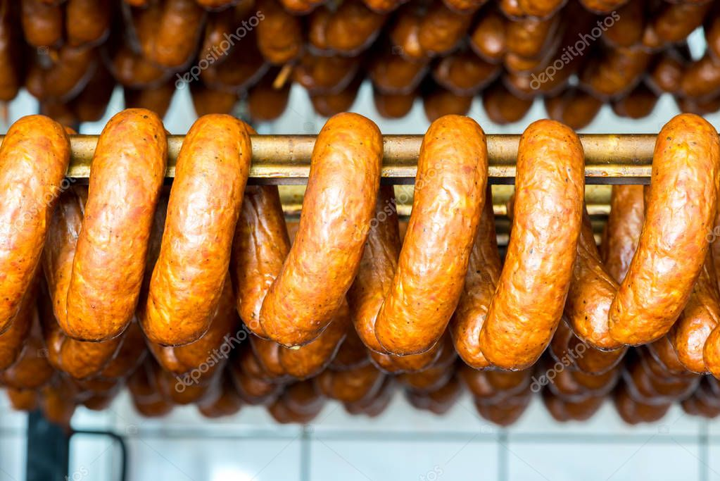 Fresh smoked sausages
