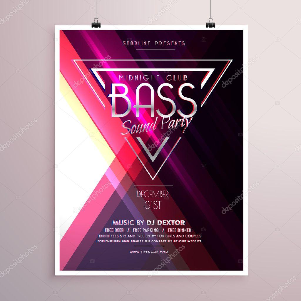 kreative Musik Party Flyer Plakat Event Einladung Vorlage ...