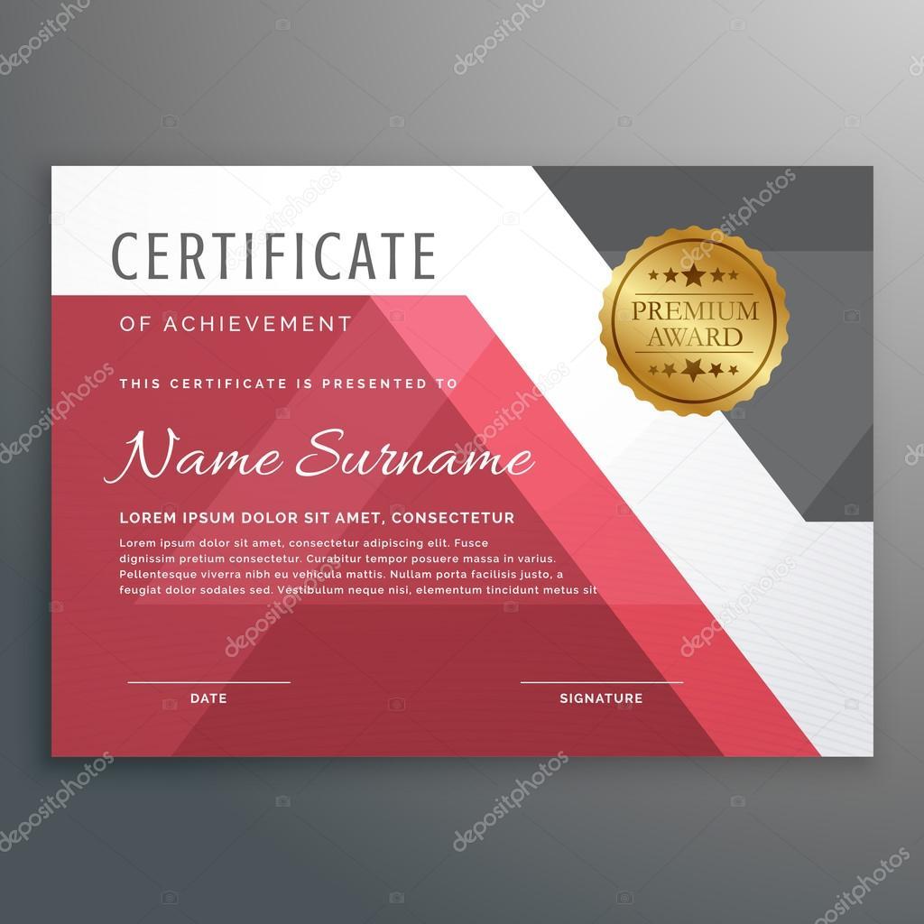 elegante Zertifikatvorlage mit geometrischen Formen — Stockvektor ...