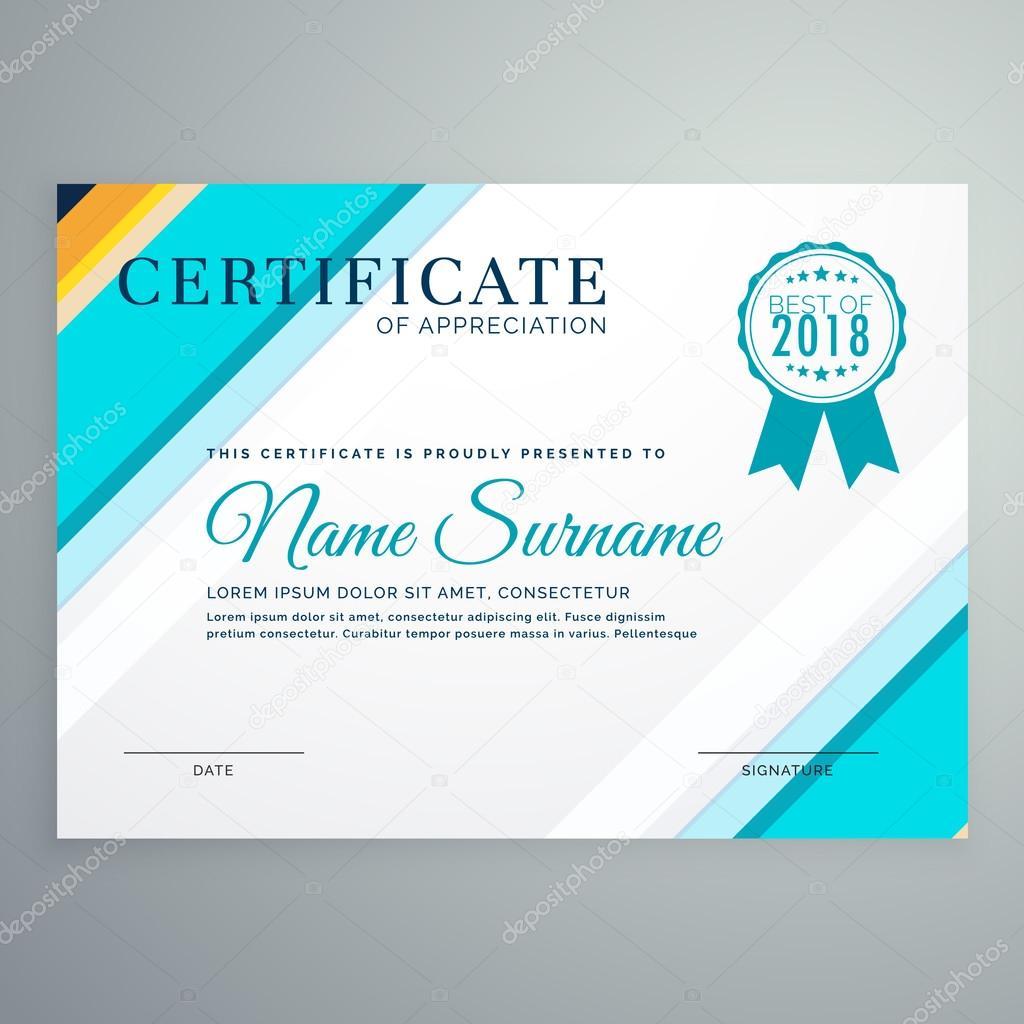 moderne Zertifikatvorlage mit blauen Linien — Stockvektor © StarLine ...