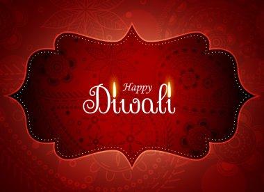 amazing diwali greeting background with paisley decoration